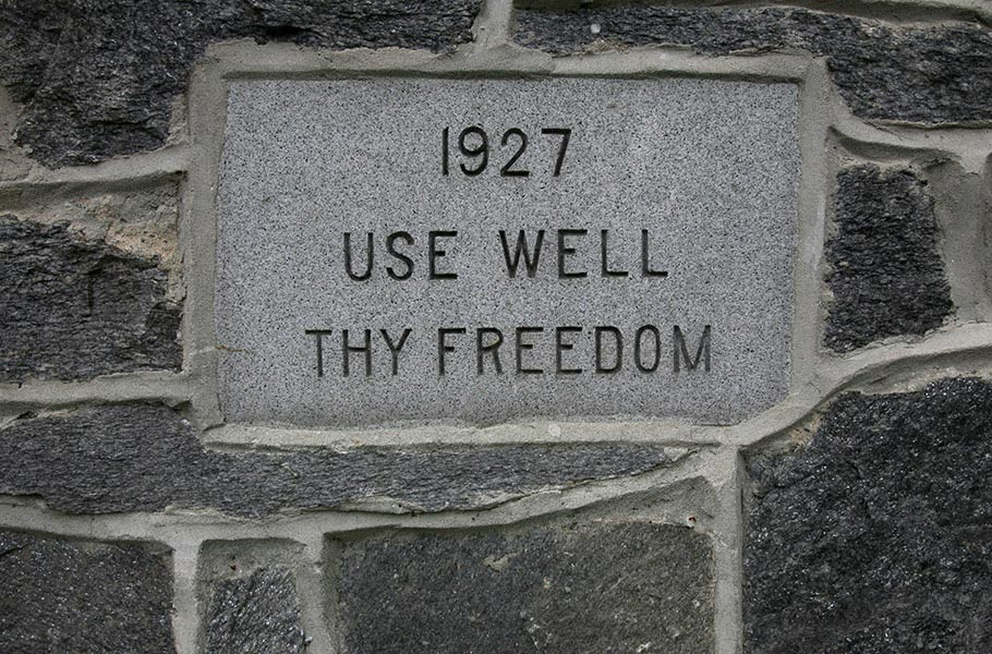 Be inspired by the class mottos carved in stone around campus.