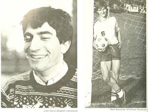 Peaslee Debate Society members Josh Davis '87 and Reid Neureiter '87